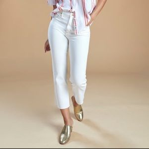 Wrangler Cream Tan Crop Heritage Archive Inspired